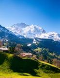 Paesaggio di Lauterbrunnen, Svizzera Fotografie Stock