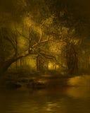 Paesaggio di legno di fantasia illustrazione vettoriale