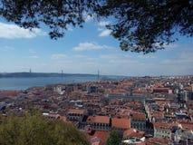 Paesaggio di Lisbona Fotografie Stock