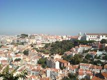 Paesaggio di Lisbona con Convento da Graça Fotografia Stock