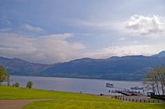 Paesaggio di Loch Lomond Fotografia Stock