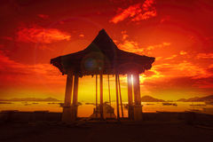 Paesaggio di Lombok Immagine Stock