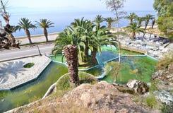 Paesaggio di Loutraki Grecia fotografia stock