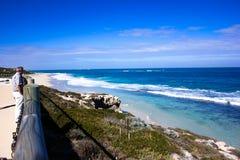 Paesaggio di luce del giorno in spiaggia del nord a Perth, Australia occidentale Immagine Stock