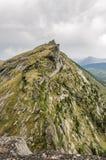 Paesaggio di luce del giorno, vista sulle montagne e rocce, Ergaki Fotografie Stock