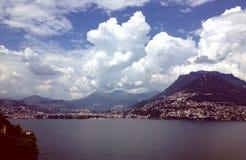 Paesaggio di Lugano Fotografia Stock
