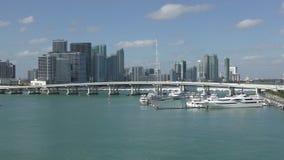 Paesaggio di lungomare di Miami stock footage