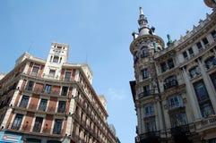 Paesaggio di Madrid - estate nella t Fotografia Stock Libera da Diritti