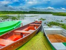 Paesaggio di Masuria in Polonia Lago Seksty immagine stock