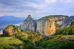 Paesaggio di Meteora, Grecia Fotografia Stock Libera da Diritti