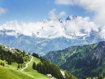 Paesaggio di Mountain View nelle alpi Francia Immagine Stock Libera da Diritti