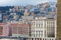 Paesaggio di Napoli fotografie stock libere da diritti