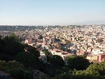 Paesaggio di Napoli, Italia fotografie stock