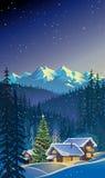 Paesaggio di natale di inverno Fotografie Stock
