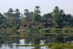 Paesaggio di Nilo del fiume fra Assuan e Luxor Fotografie Stock