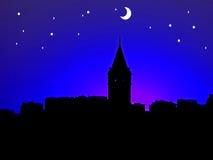 Paesaggio di notte fotografia stock libera da diritti