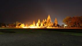 Paesaggio di notte all'eredità dell'Indonesia Immagini Stock Libere da Diritti