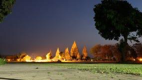 Paesaggio di notte all'eredità dell'Indonesia Fotografie Stock Libere da Diritti