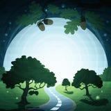 Paesaggio di notte di estate Immagini Stock Libere da Diritti