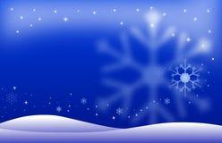 Paesaggio di notte di inverno Fotografia Stock