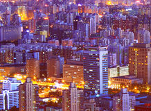 Paesaggio di notte di Pechino Fotografia Stock