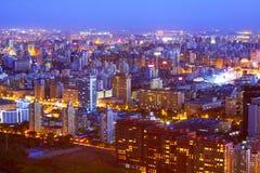 Paesaggio di notte di Pechino Fotografie Stock Libere da Diritti