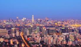 Paesaggio di notte di Pechino Immagine Stock Libera da Diritti