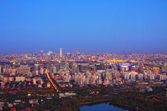 Paesaggio di notte di Pechino Immagini Stock