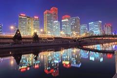 Paesaggio di notte di Pechino Immagine Stock