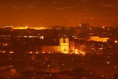 Paesaggio di notte di Roma Immagini Stock