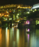 Paesaggio di notte di Scilla Fotografia Stock Libera da Diritti