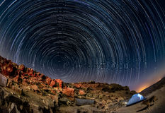 Paesaggio di notte nel deserto di Negev Immagine Stock