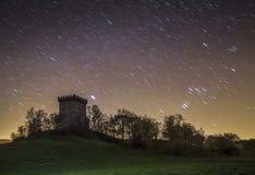 Paesaggio di notte stellata di Navarra Fotografia Stock Libera da Diritti