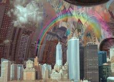 Paesaggio di NYC illustrazione di stock