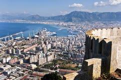 Paesaggio di Palermo Fotografia Stock
