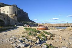 Paesaggio di Palermo Arenella Fotografia Stock