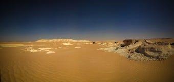 Paesaggio di panorama al grande mare della sabbia intorno all'oasi di Siwa, Egitto Fotografie Stock