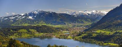 Paesaggio di panorama in Baviera Fotografia Stock Libera da Diritti