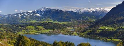 Paesaggio di panorama in Baviera Immagine Stock Libera da Diritti