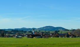 Paesaggio di panorama in Baviera Immagine Stock