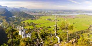 Paesaggio di panorama in Baviera fotografie stock