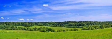 Paesaggio di panorama di estate Immagine Stock