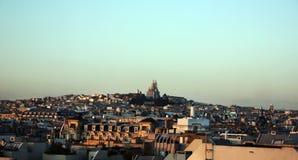 """Paesaggio di Parigi con il ur di Sacré-CÅ """" Immagini Stock"""
