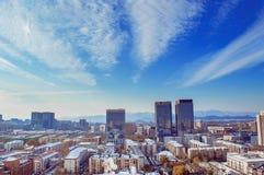 Paesaggio di Pechino nel giorno soleggiato Fotografie Stock Libere da Diritti