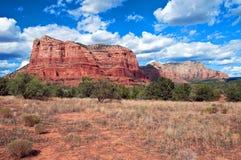 Paesaggio di pietra rosso del sedona, in Arizona Fotografie Stock Libere da Diritti