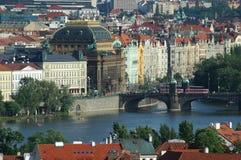 Paesaggio di Praga Fotografia Stock