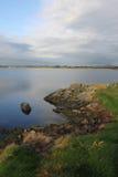 Paesaggio di primo mattino, un ponte da quattro miglia, Anglesey Fotografia Stock Libera da Diritti