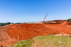Paesaggio di progetti degli sterri della costruzione Immagini Stock