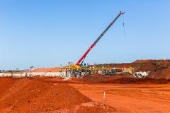 Paesaggio di progetti degli sterri della costruzione Immagini Stock Libere da Diritti