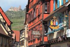 Paesaggio di Ribeauville Immagine Stock